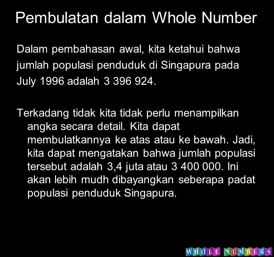 Pembulatan dalam Whole Number