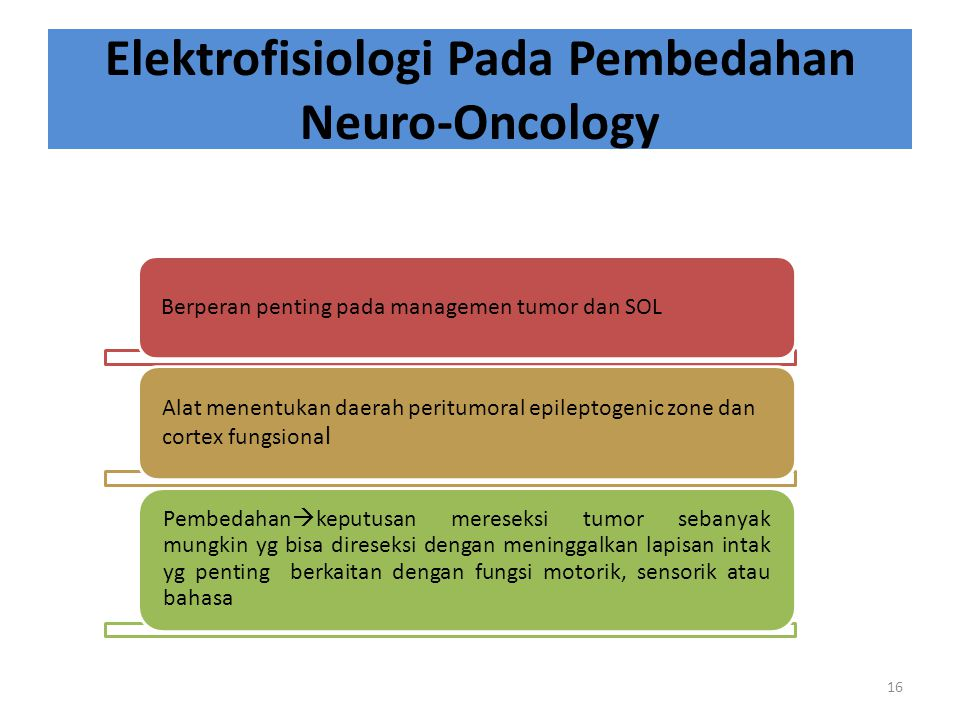 Elektrofisiologi Pada Pembedahan Neuro-Oncology