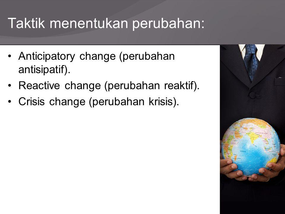 Taktik menentukan perubahan: