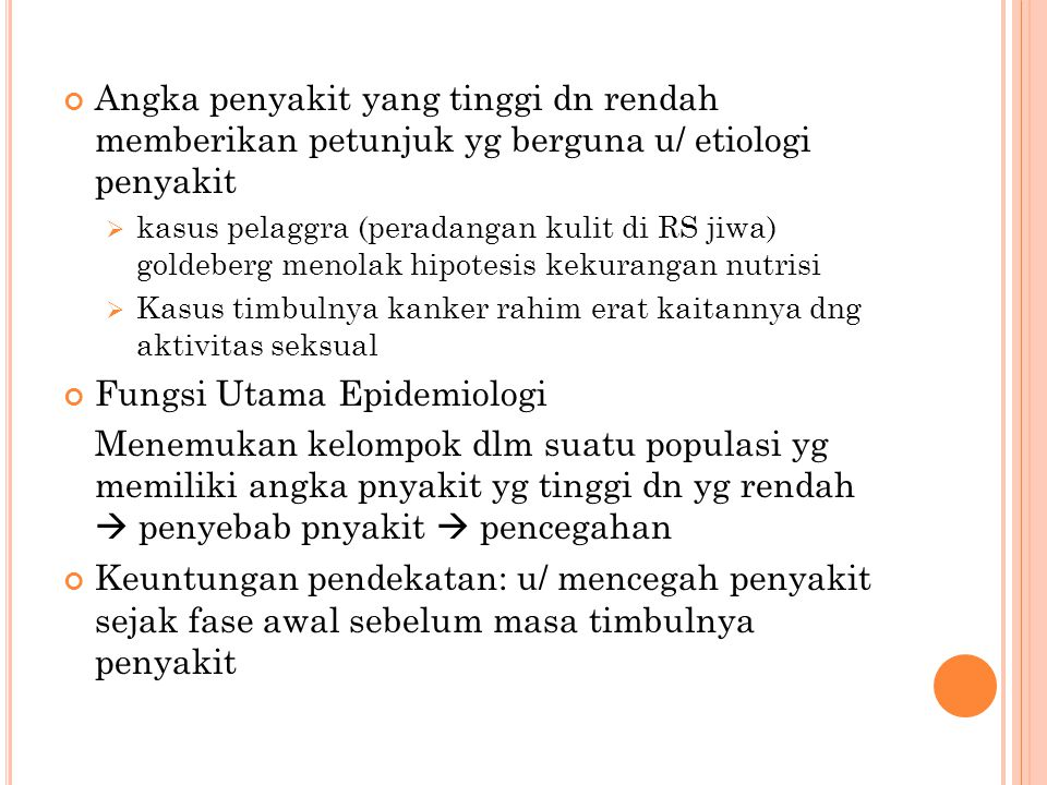 Fungsi Utama Epidemiologi