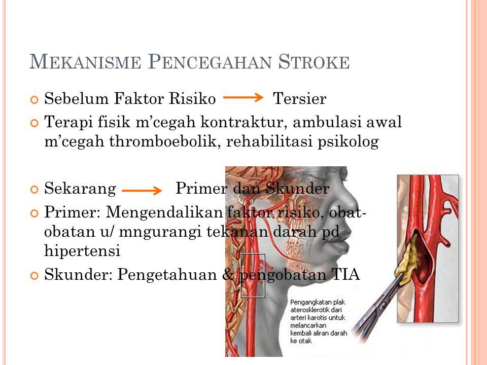 Mekanisme Pencegahan Stroke