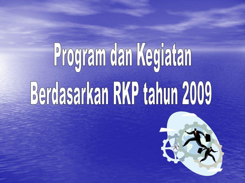 Program dan Kegiatan Berdasarkan RKP tahun 2009