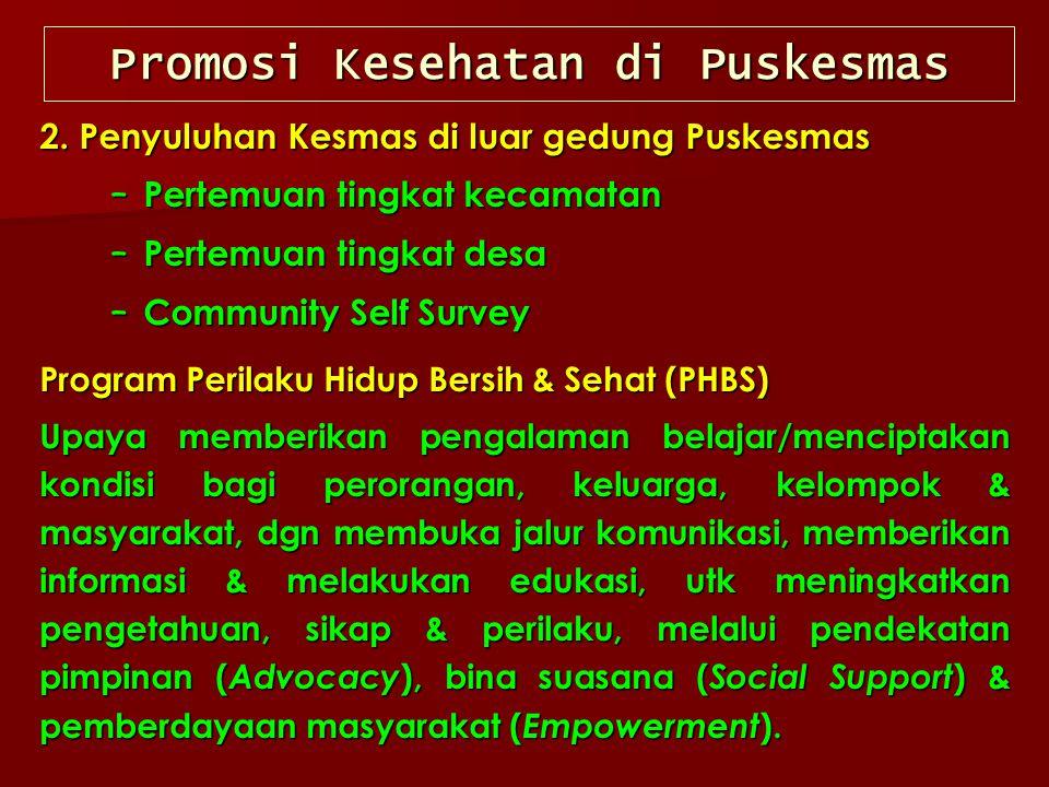 Promosi Kesehatan di Puskesmas