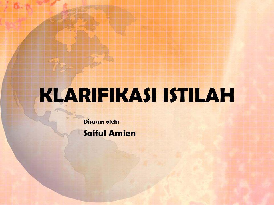 Disusun oleh: Saiful Amien
