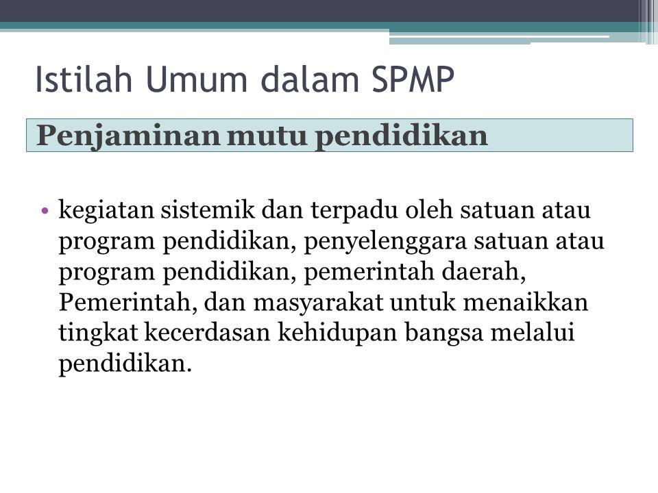 Istilah Umum dalam SPMP