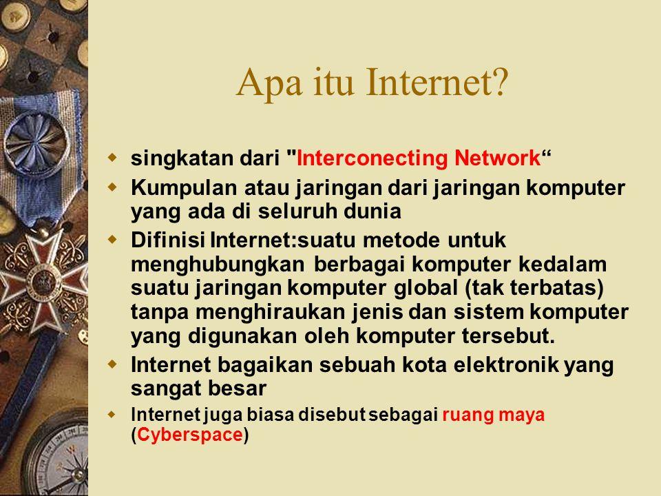 Apa itu Internet singkatan dari Interconecting Network
