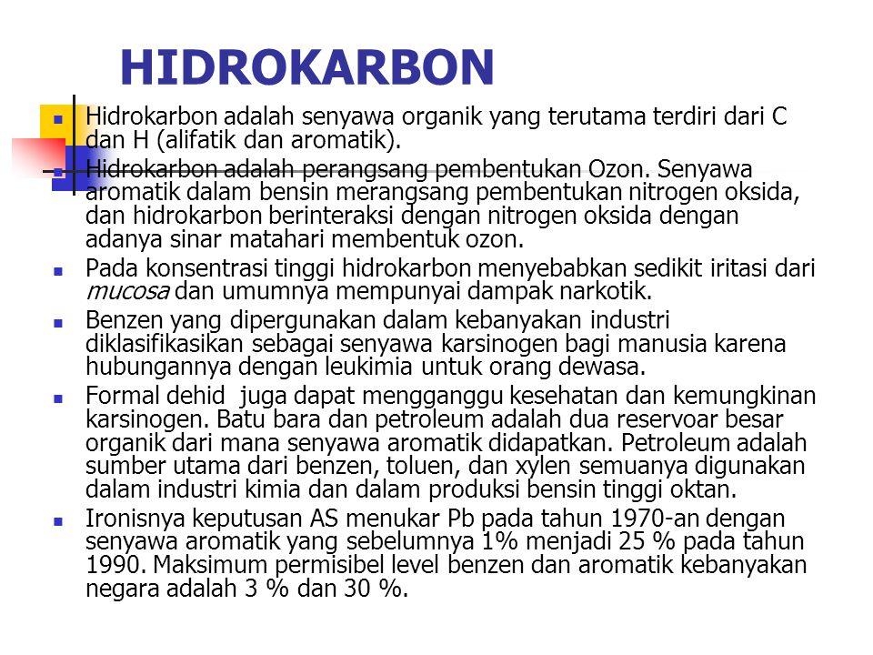 HIDROKARBON Hidrokarbon adalah senyawa organik yang terutama terdiri dari C dan H (alifatik dan aromatik).