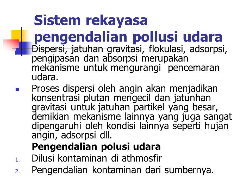 Sistem rekayasa pengendalian pollusi udara