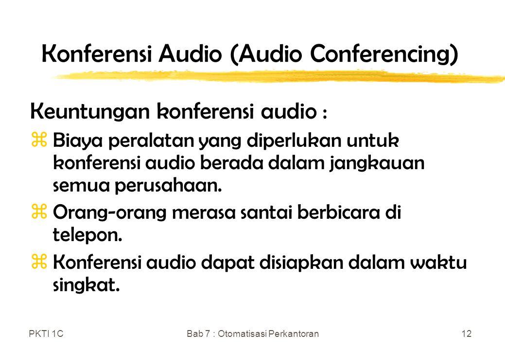 Konferensi Audio (Audio Conferencing)
