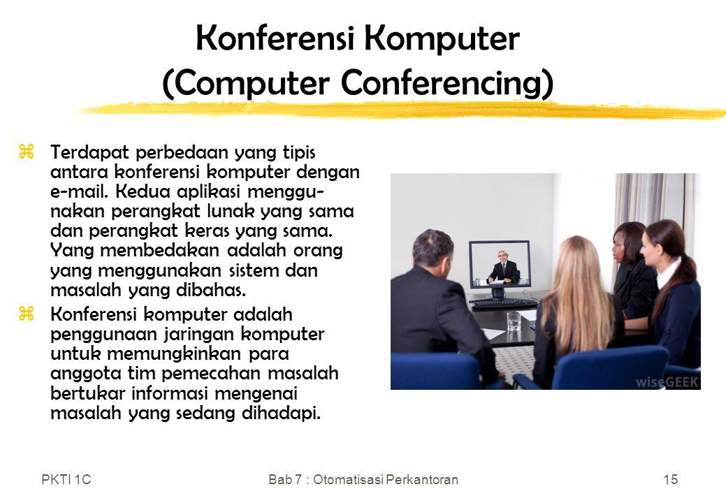 Konferensi Komputer (Computer Conferencing)