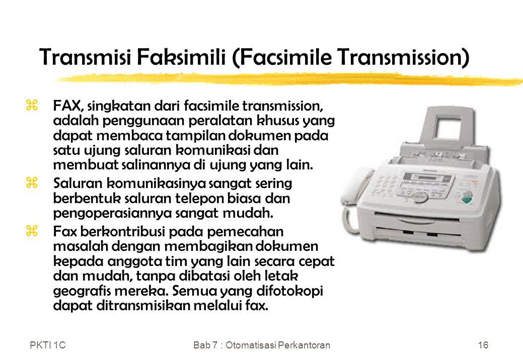 Transmisi Faksimili (Facsimile Transmission)