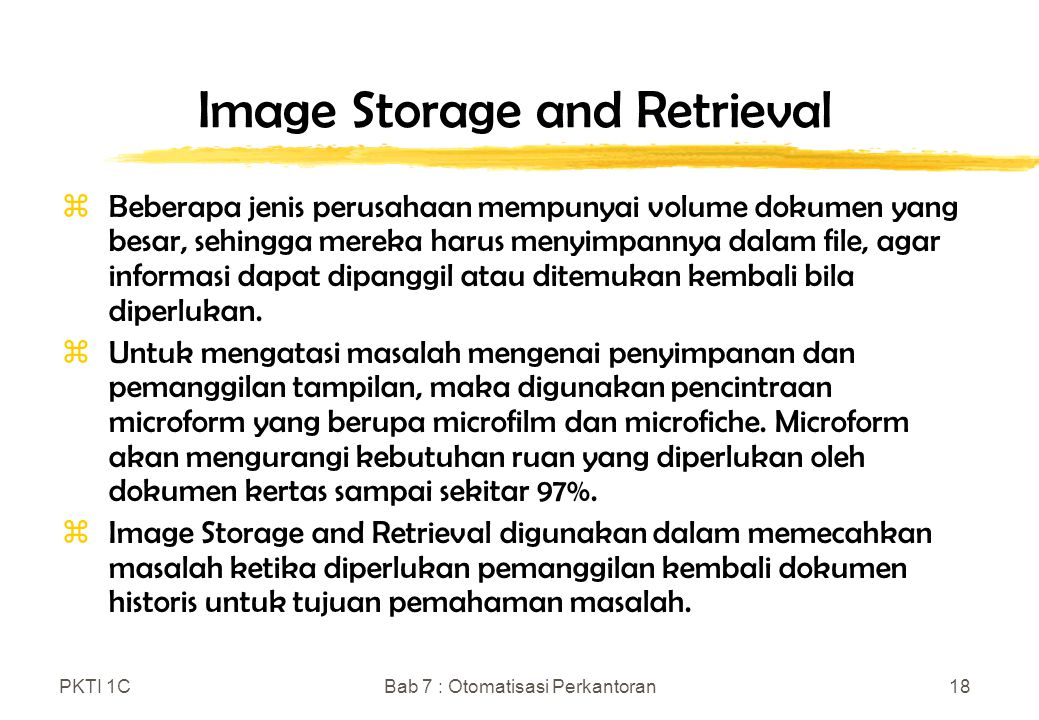 Image Storage and Retrieval