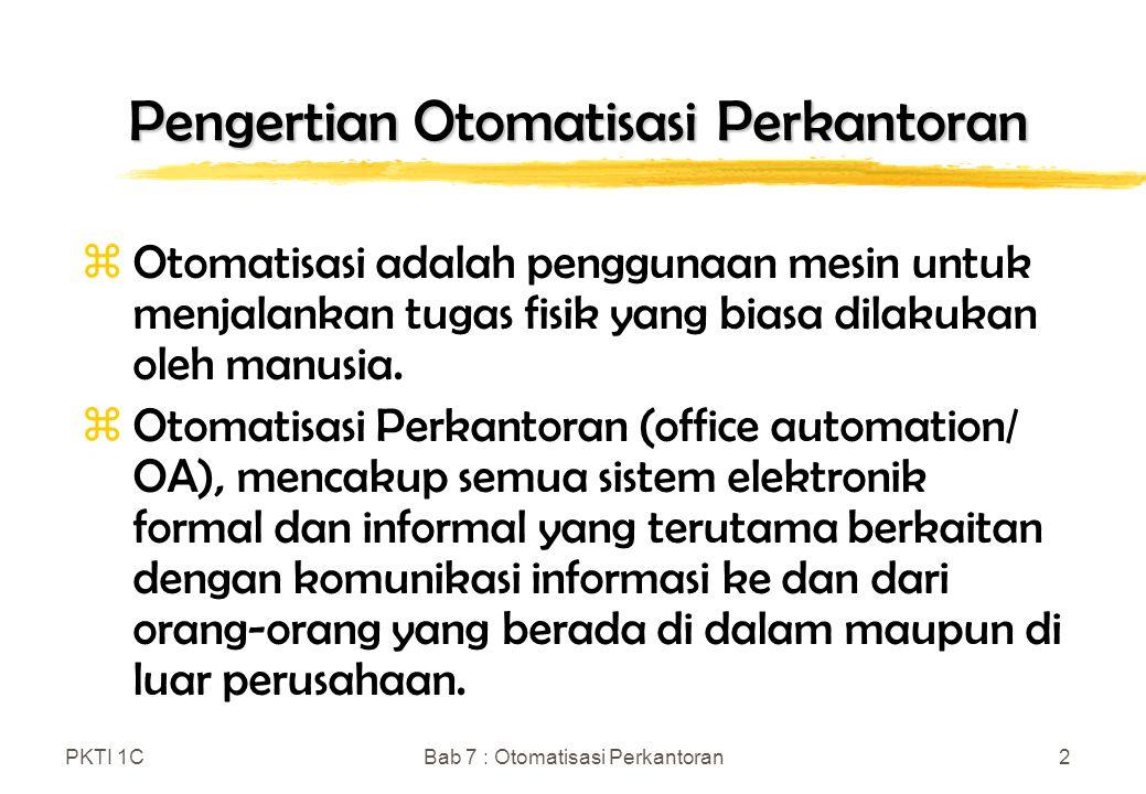 Pengertian Otomatisasi Perkantoran