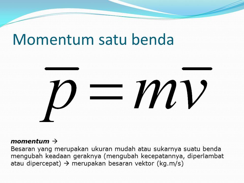 Momentum satu benda momentum 