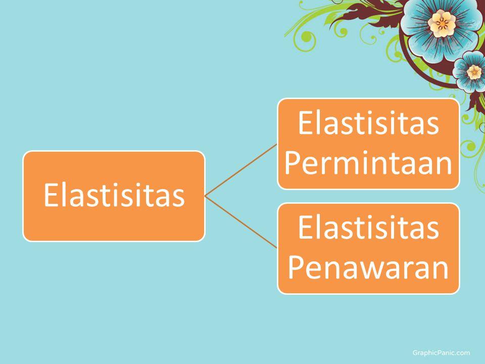 Elastisitas Permintaan Elastisitas Penawaran
