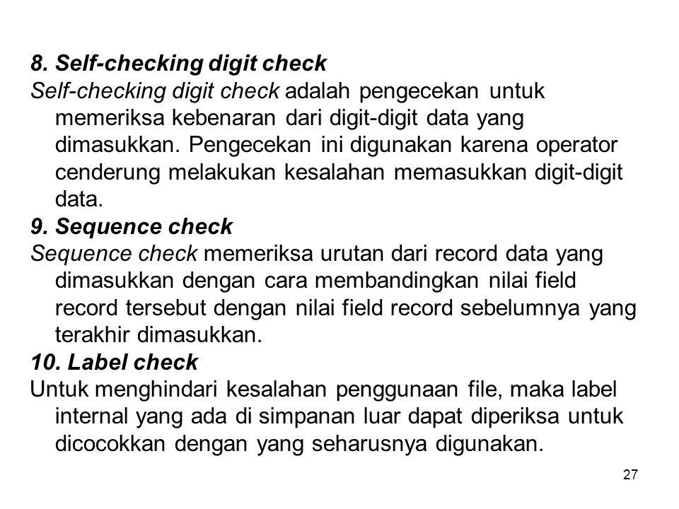 8. Self-checking digit check