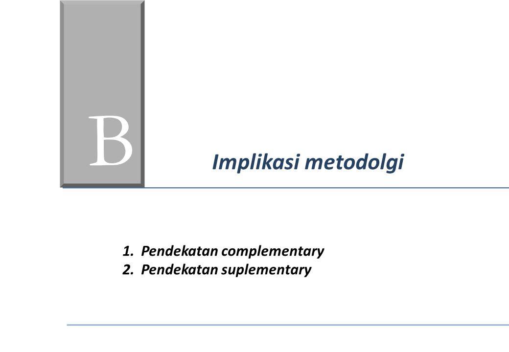BC Implikasi metodolgi Pendekatan complementary