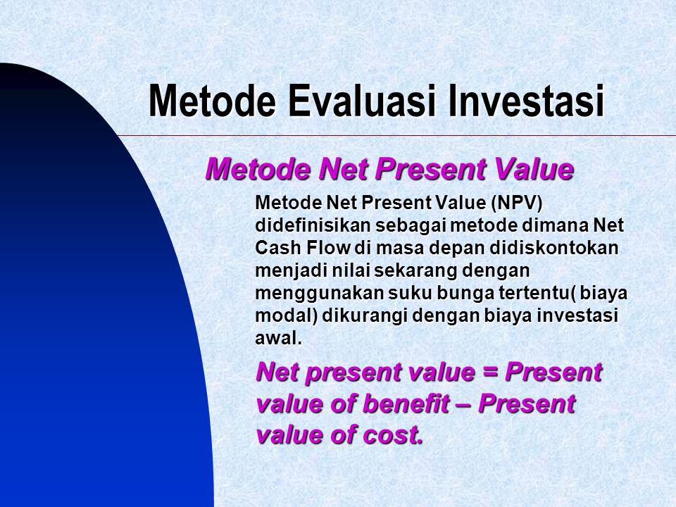 Metode Evaluasi Investasi