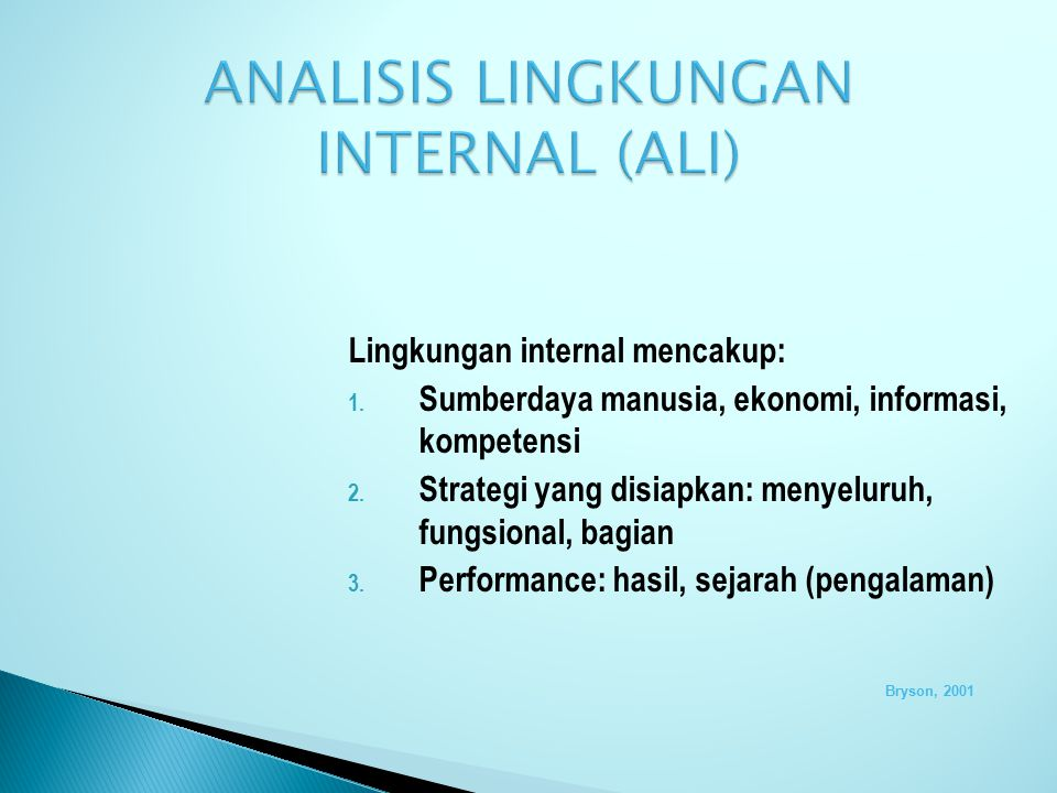 ANALISIS LINGKUNGAN INTERNAL (ALI)