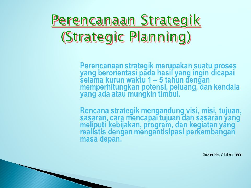 Perencanaan Strategik (Strategic Planning)
