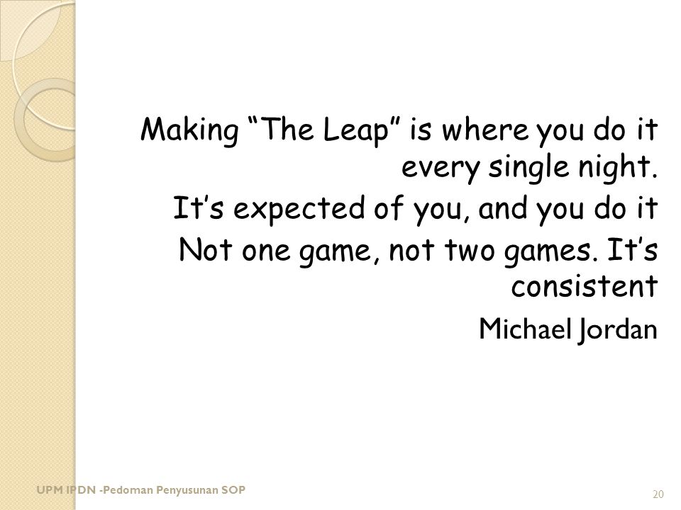 Making The Leap is where you do it every single night
