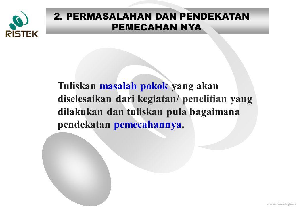 2. PERMASALAHAN DAN PENDEKATAN PEMECAHAN NYA