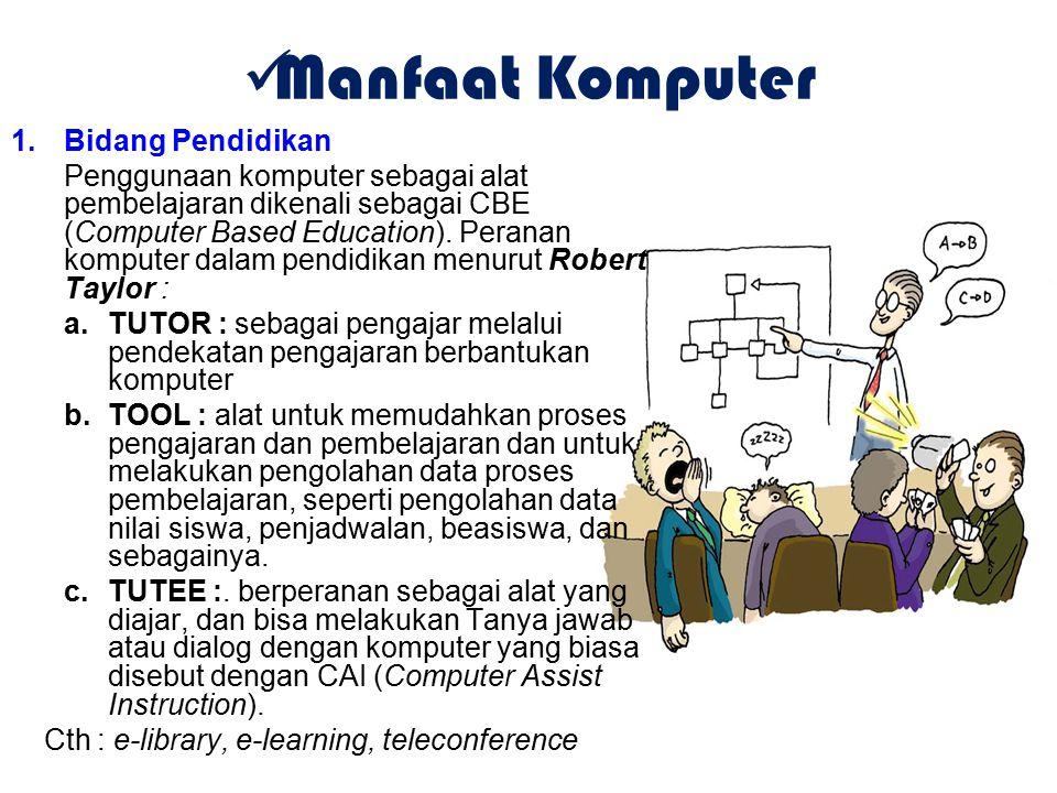 Manfaat Komputer Bidang Pendidikan