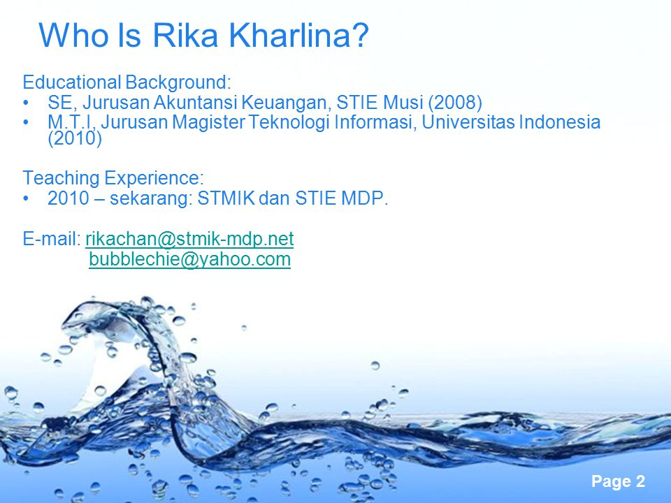 Who Is Rika Kharlina Educational Background: