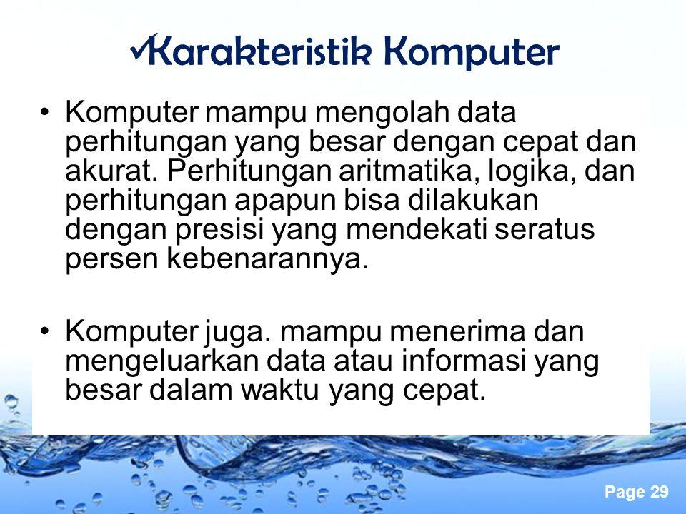 Karakteristik Komputer