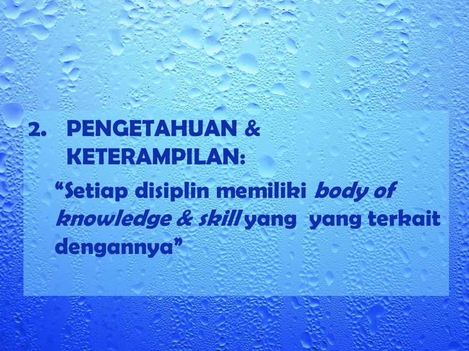 PENGETAHUAN & KETERAMPILAN: