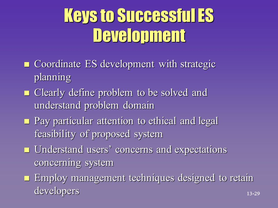 Keys to Successful ES Development