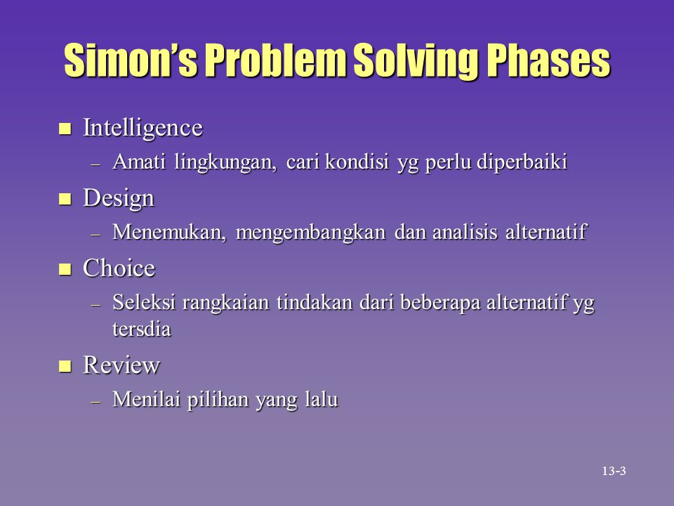 Simon's Problem Solving Phases