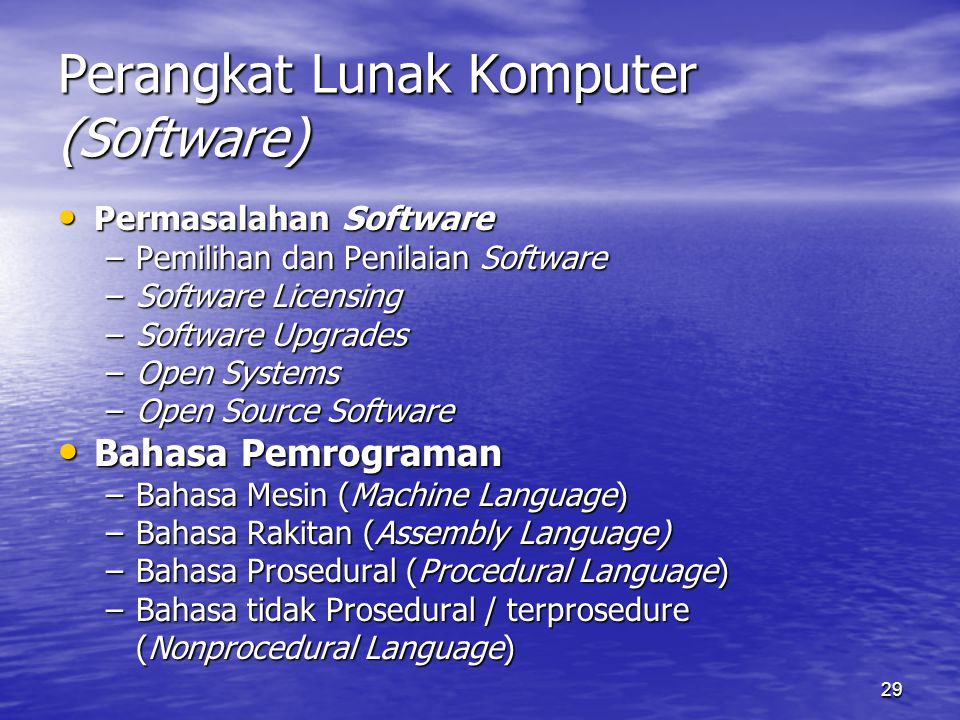 Perangkat Lunak Komputer (Software)