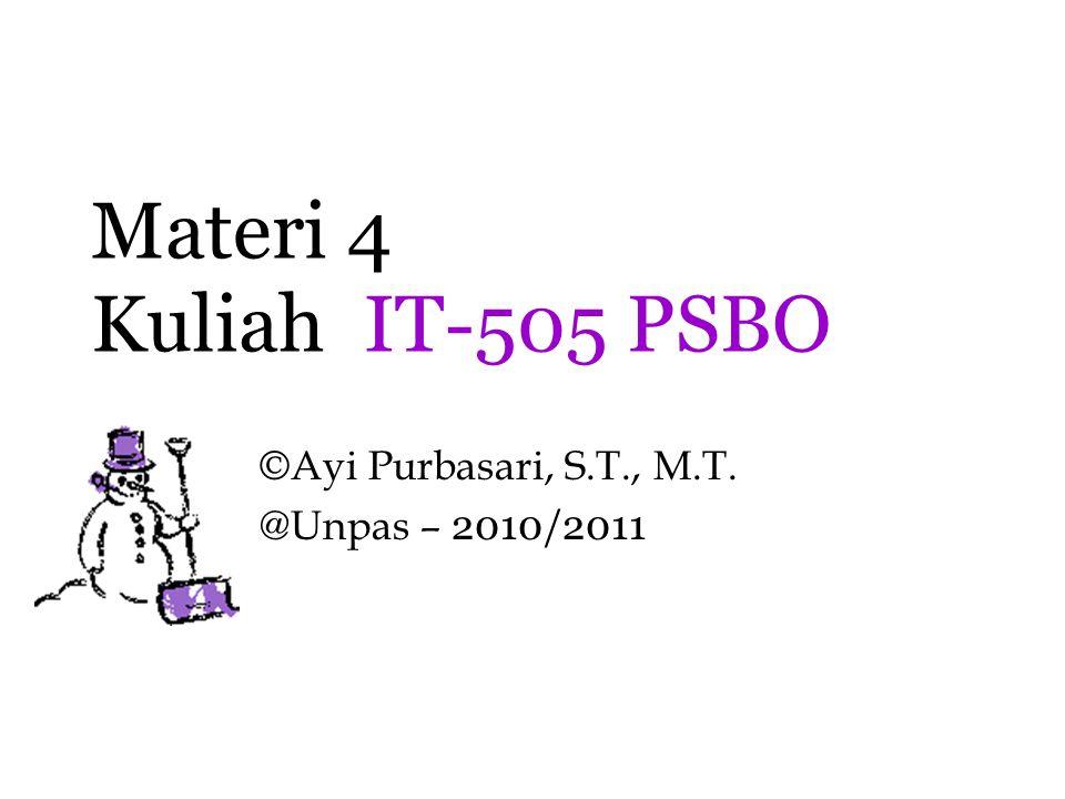 ©Ayi Purbasari, S.T., M.T. @Unpas – 2010/2011