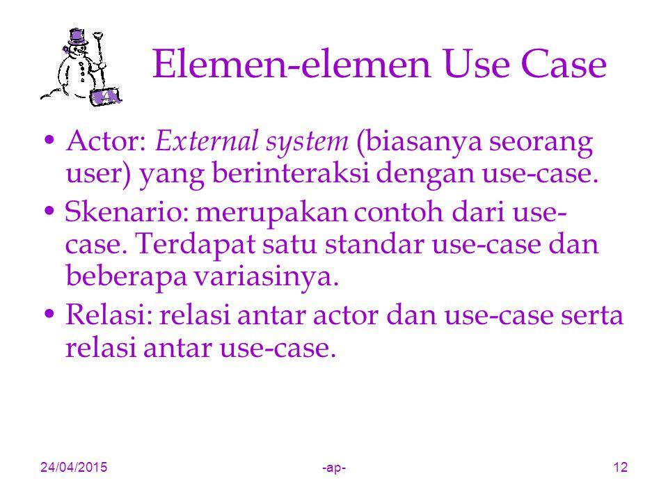 Elemen-elemen Use Case
