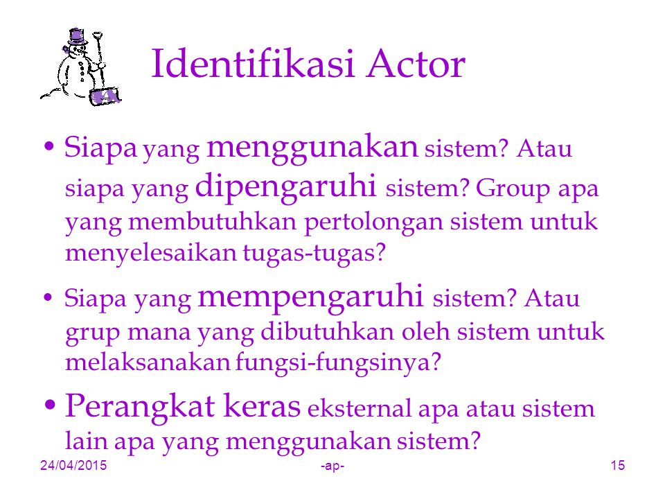 Identifikasi Actor