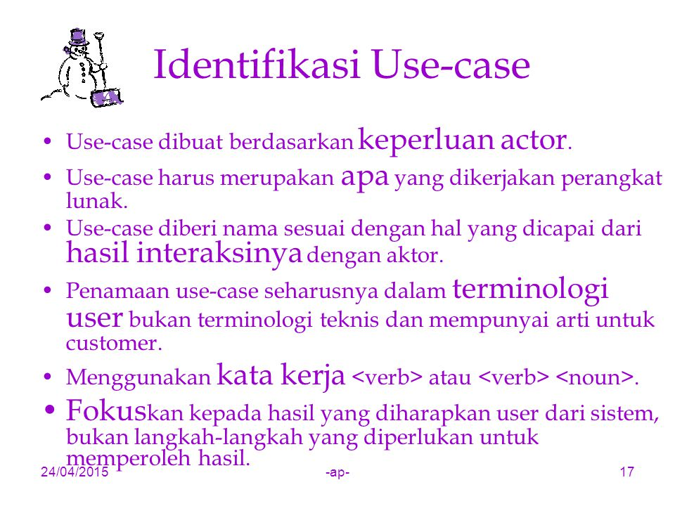 Identifikasi Use-case