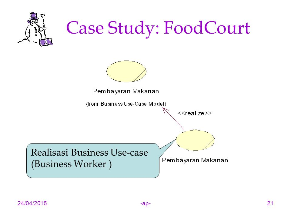 Case Study: FoodCourt Realisasi Business Use-case (Business Worker )