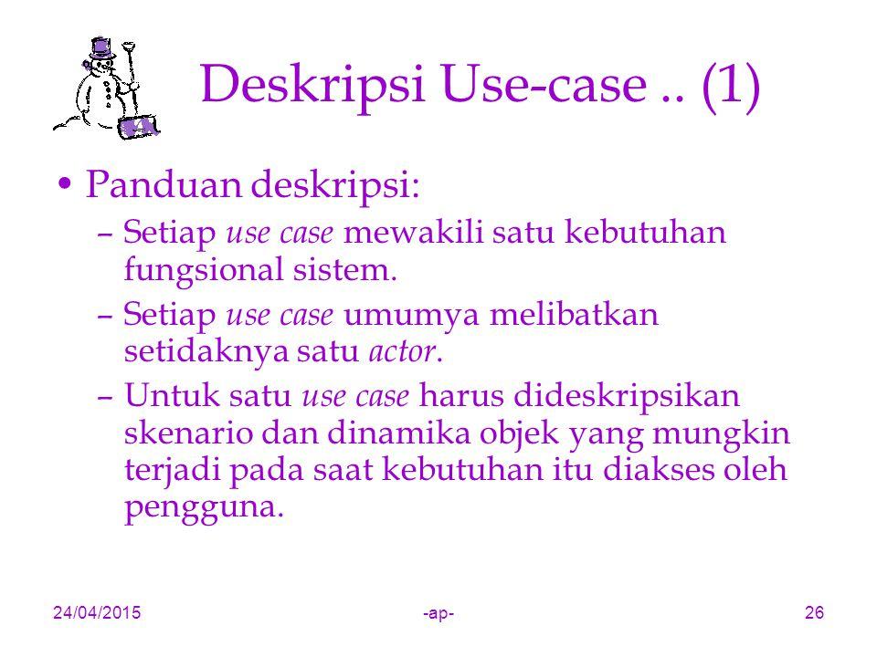 Deskripsi Use-case .. (1) Panduan deskripsi: