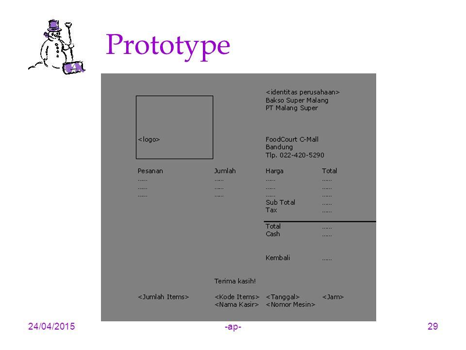 Prototype 14/04/2017 -ap-