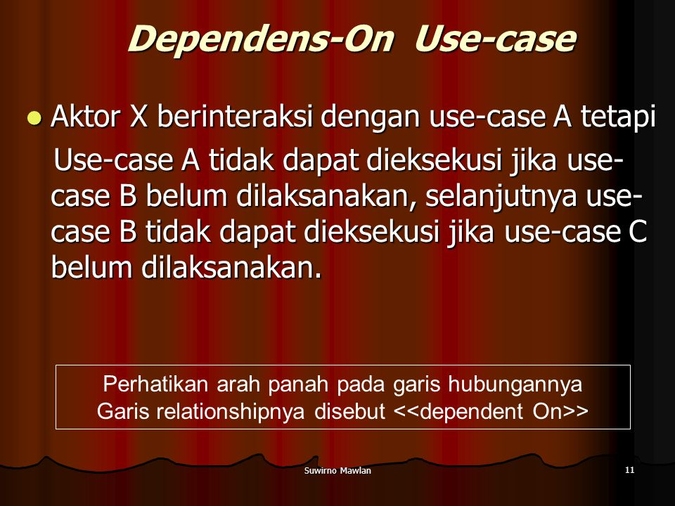 Dependens-On Use-case