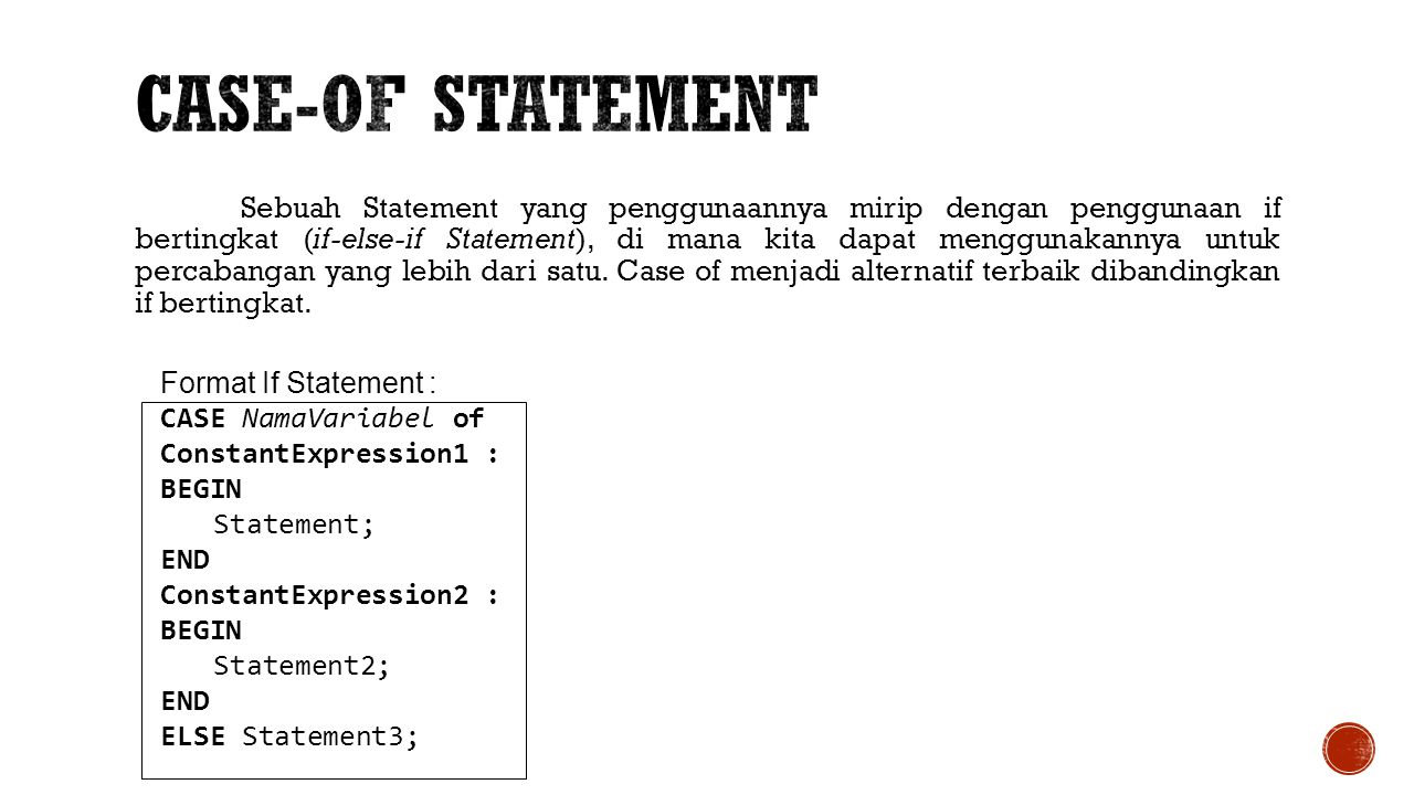 Case-Of Statement