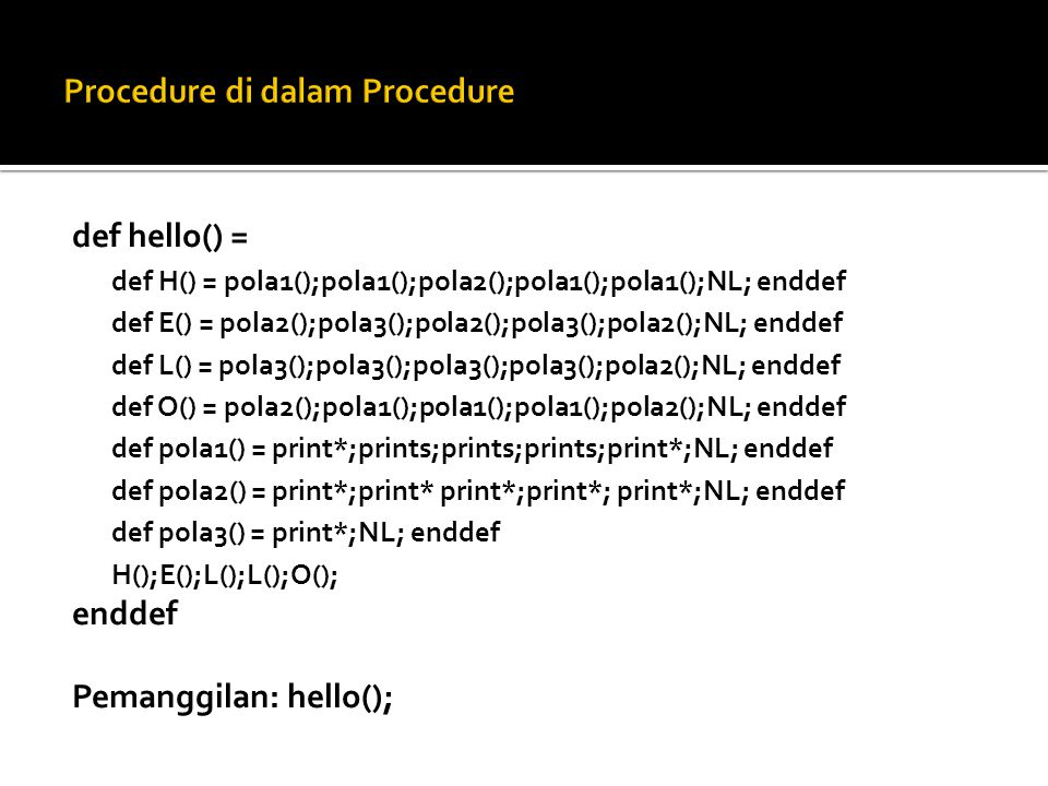 Procedure di dalam Procedure