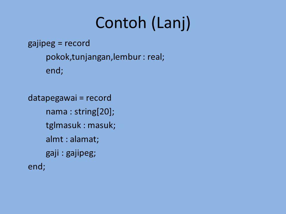 Contoh (Lanj)