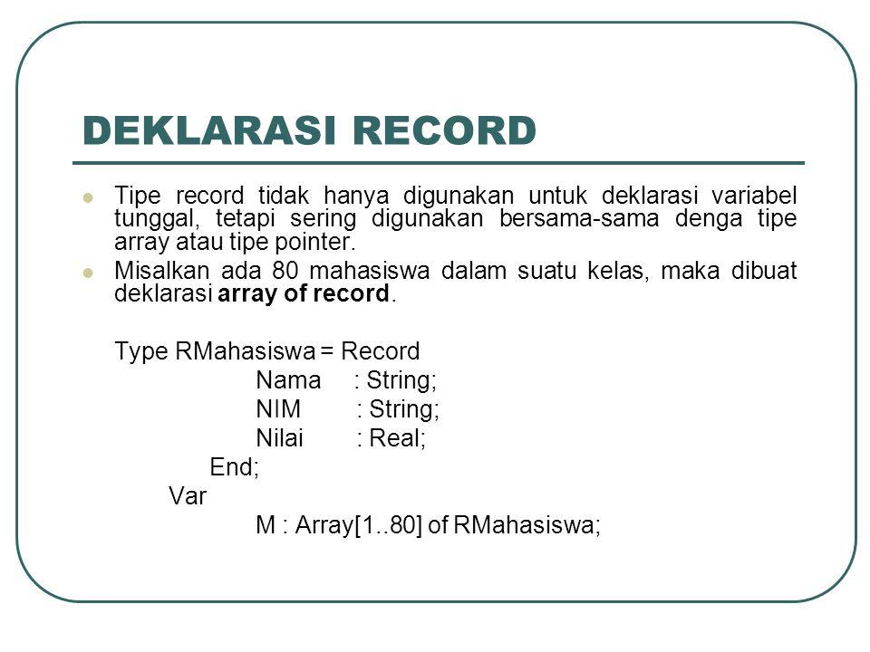 DEKLARASI RECORD