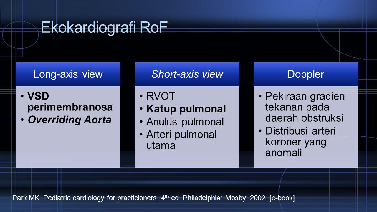 Ekokardiografi RoF Long-axis view VSD perimembranosa Overriding Aorta