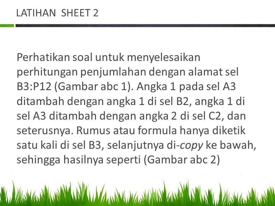 LATIHAN SHEET 2