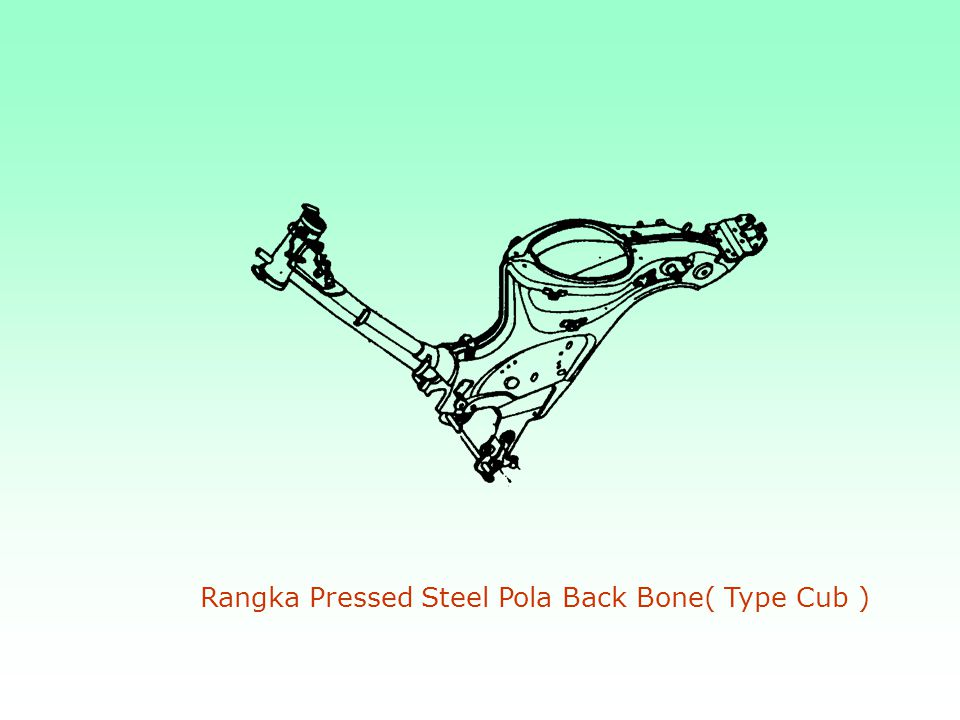 Rangka Pressed Steel Pola Back Bone( Type Cub )