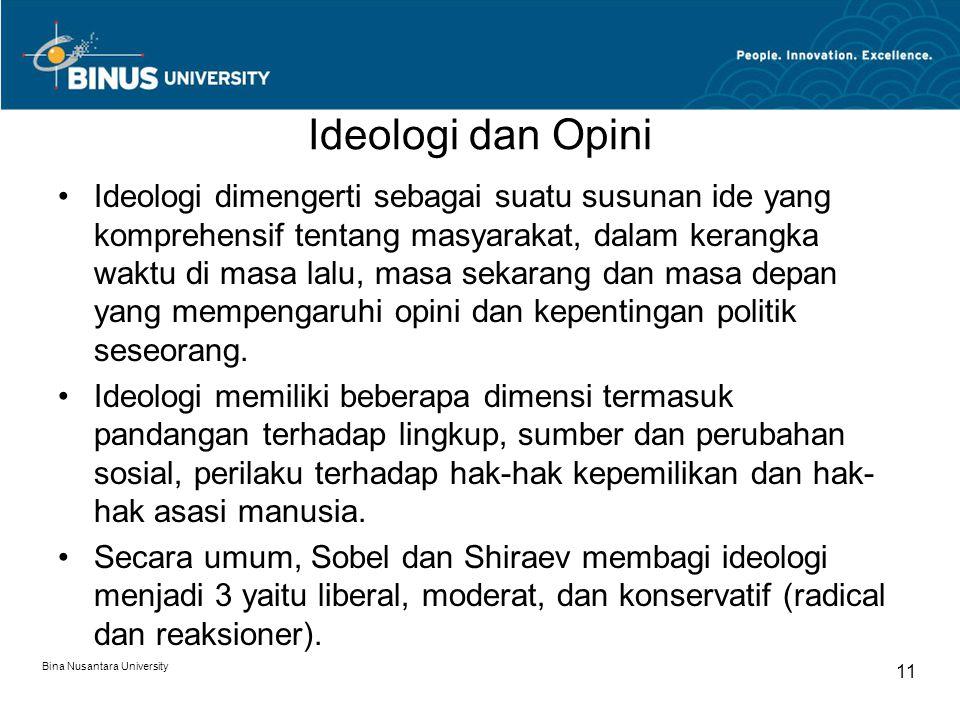 Ideologi dan Opini