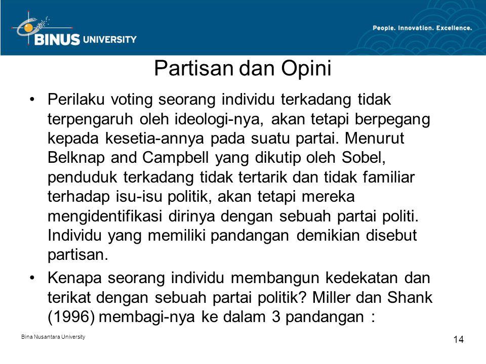 Partisan dan Opini